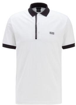 HUGO BOSS Slim Fit Polo Shirt In Pima Cotton Oxford Pique - White