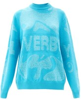 Thumbnail for your product : Charles Jeffrey Loverboy Logo-jacquard Sweater - Blue
