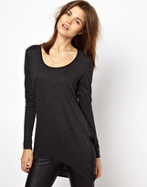 Y.A.S Lava Jersey Top with Silk Back Detail