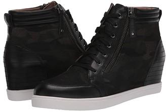 Linea Paolo Niya (Black/Camo Leather/Net Fabric) Women's Shoes