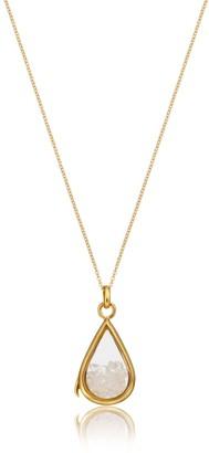 Lily & Roo Gold & Glass Rose Quartz Birthstone Locket