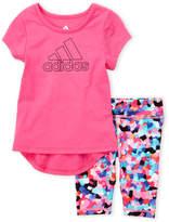 adidas Infant Girls) Two-Piece Logo Tee & Printed Leggings Set