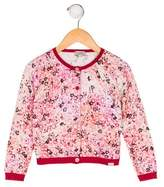 Paul Smith Girls' Watercolor Button-Up Cardigan