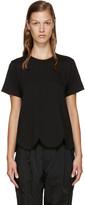 Comme des Garcons Black Scalloped T-Shirt