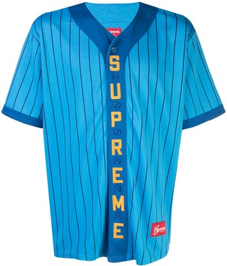 Supreme Logo Baseball Shirt