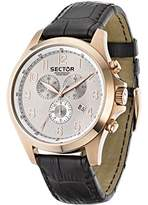 Sector Men's Quartz Watch with Black Dial Analogue Display and Black Leather Strap R3271690002