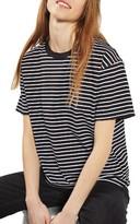 Topshop Women's Stripe Boxy Tee