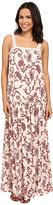 Brigitte Bailey Candice Floral Maxi Dress with Lace Trim