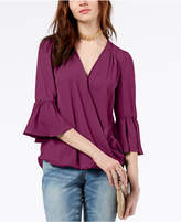 INC International Concepts I.n.c. Petite Surplice-Neck Bell-Sleeve Blouse, Created for Macy's