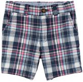 Carter's Toddler Boy Flat Front Plaid Shorts