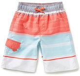 First Wave Big Boys 8-20 Striped Swim Trunks