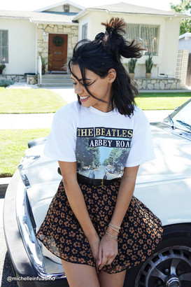 Junk Food Clothing The Beatles Abbey Road Glitter Tee