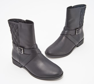 Vionic Quilted Leather Mid Boots - Thea