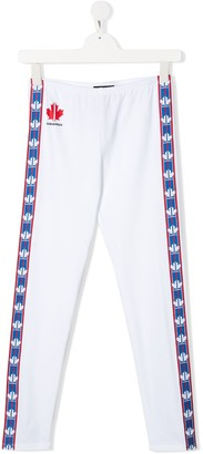 DSQUARED2 TEEN maple leaf track pants