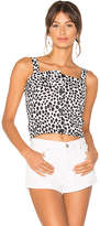 MinkPink Dalmatian Button Front Apron Top in Black & White