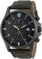 Andrew Marc Men's AM10006 Military Inspired Chronograph with Nylon Canvas Strap Watch