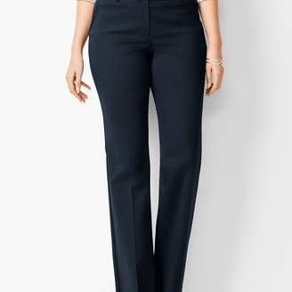 Talbots Cotton Double-Weave Barely Boot Pants - Curvy Fit