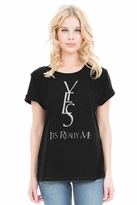 Local Celebrity Yes It's Me Schiffer Tee in Faded Black