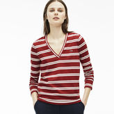 Lacoste Women's Stripe Cotton Jersey T-Shirt