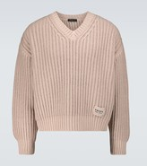Thumbnail for your product : Prada Cashmere and wool V-neck sweater