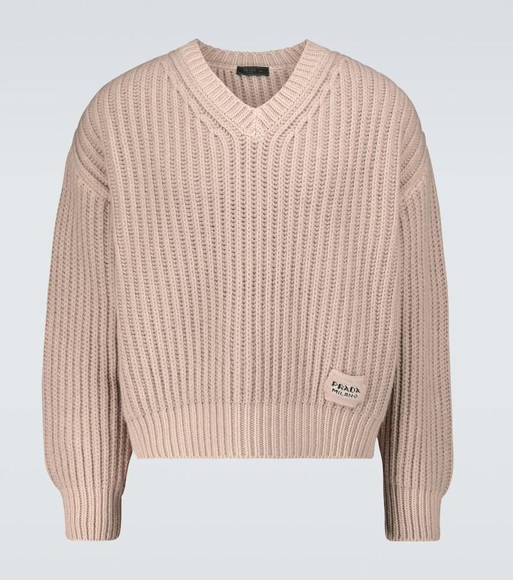 Prada Cashmere and wool V-neck sweater