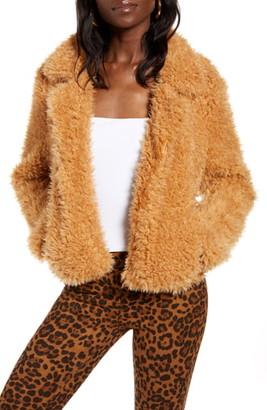 Blank NYC BLANKNYC Faux Fur Teddy Coat