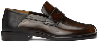 Maison Margiela Brown and Black Tabi Loafers