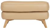 John Lewis Barbican Semi-Aniline Leather Rectangular Footstool