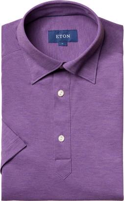 Eton Soft Casual Line Slim Fit Pique Polo Shirt