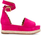 Chloé Lauren espadrille wedges - women - Leather/Suede/rubber - 41