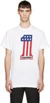 DSQUARED2 White Long Cool Twisted T-Shirt