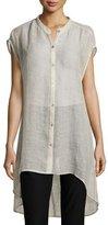 Eileen Fisher Organic Linen-Blend Mesh Tunic