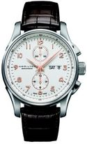 Hamilton Jazzmaster Maestro Auto Chrono Stainless Steel & Embossed Leather Strap Watch