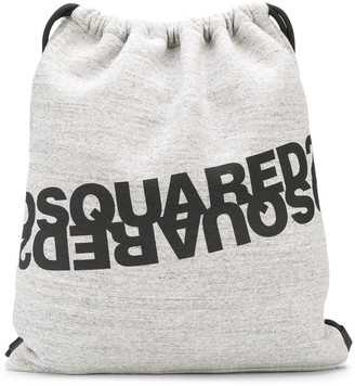 DSQUARED2 Logo-Print Jersey Backpack
