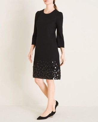 Chico's Sequin-Hem Ponte Dress