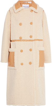 Stand Studio Morgan Double-breasted Faux Shearling Coat