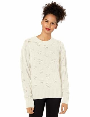 BCBGMAXAZRIA Women's Pointelle Sweater