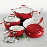 Tramontina Gourmet Ceramica Deluxe 8-Piece Cookware Set in Metallic Red