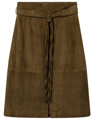 Vanessa Bruno Suede leather Nenuphar skirt