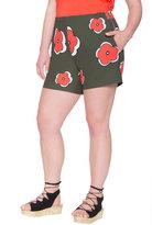 ELOQUII Plus Size Sadie Printed Woven Shorts