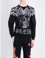 Philipp Plein Lava Sleeve-detailed Cotton Sweatshirt