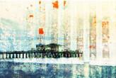 Santa Monica Pier Art Print on Canvas