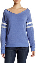 Alternative Varsity Stripe Slouched Pullover