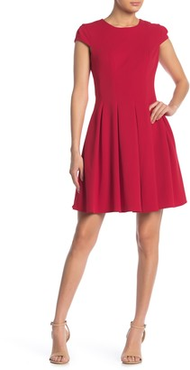 Cap Sleeve Fit And Flare Dress Shopstyle