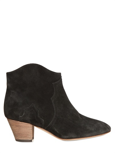 Isabel Marant 50mm Dicker Suede Low Boots