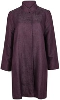 Eileen Fisher Dark Purple Jacquard Jacket