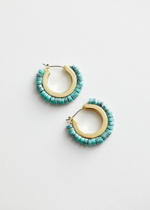 And other stories Stone Beaded Mini Hoop Earrings