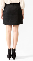Forever 21 LOVE 21 Buttoned A-Line Skirt