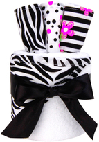 Trend Lab Black & White Zahara Hooded Towel & Wash Cloth Set
