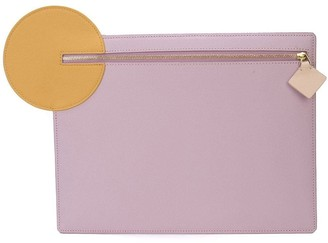 Roksanda Contrast Circle-Detail Clutch
